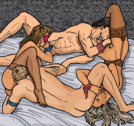 Порно сайт секс фото группового траха